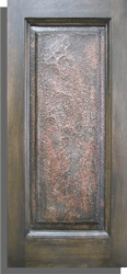 Scaled Tarnished Copper Finished Raised Panel